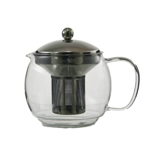 1100ml glass teapot with stainless steel infuser and lid 041361