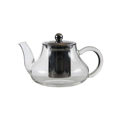 600ml glass teapot with stainless steel infuser and lid 041716