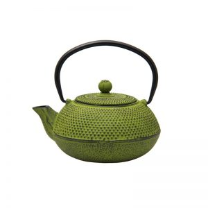 600ml lime green cast iron teapot 021750