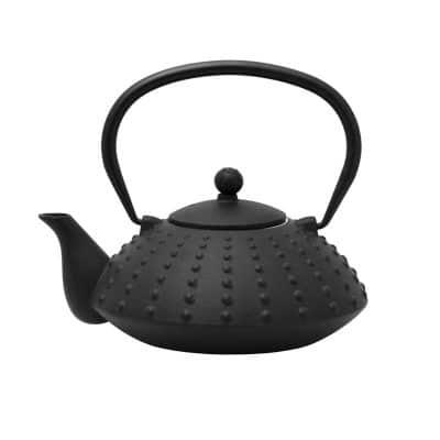 800ml black cast iron teapot 021758