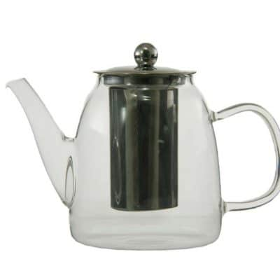 900ml glass teapot stainless steel infuser and lid 21880