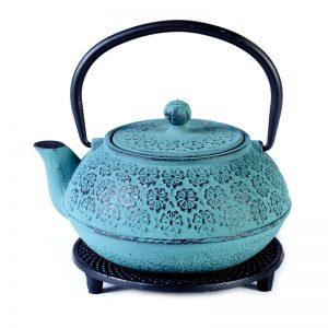 Cast iron pot duck blue on stand 800ml