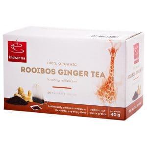 Khoisan Organic Rooibos Ginger 20Box