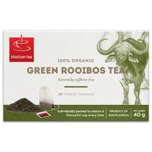 Khoisan Green Rooibos tea box 20 bags