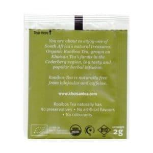 Khoisan Green Rooibos tea box 20 bags back