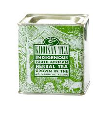 Khoisan Org green rooibos tin top
