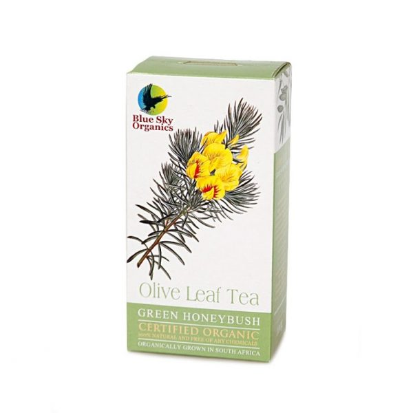 blue sky organics olive leaf tea with green honeybush organic