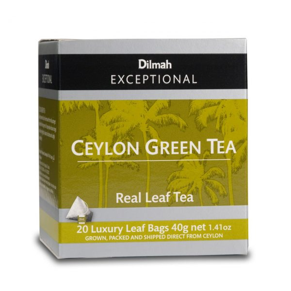 dilmah exceptional ceylon green tea Box
