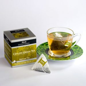 dilmah exceptional ceylon green tea cup