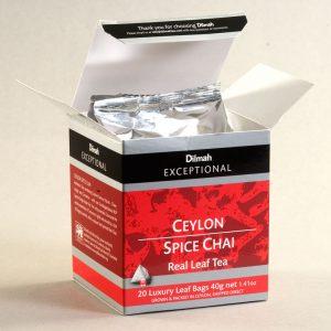 dilmah exceptional ceylon spice chai box