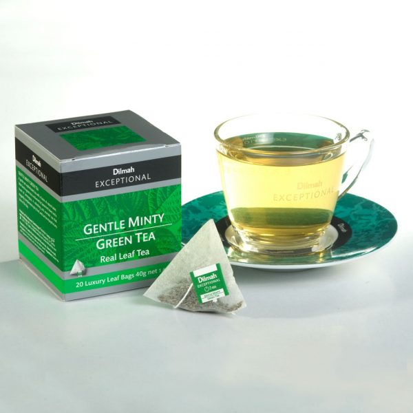 dilmah exceptional gentle minty green cup