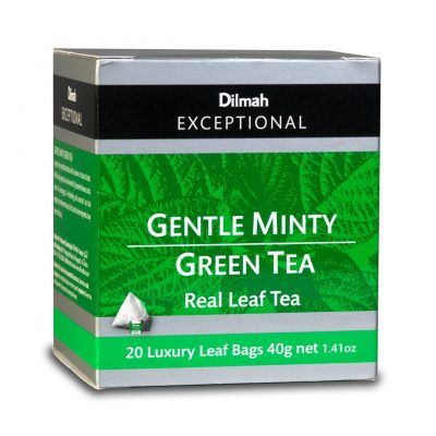 dilmah exceptional gentle minty green tea Box
