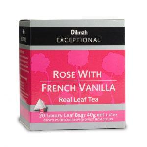 dilmah rose french vanilla box