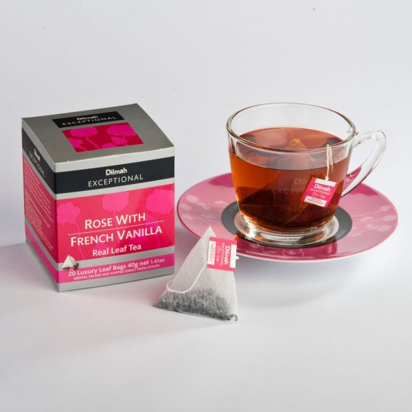 dilmah rose french vanilla cup