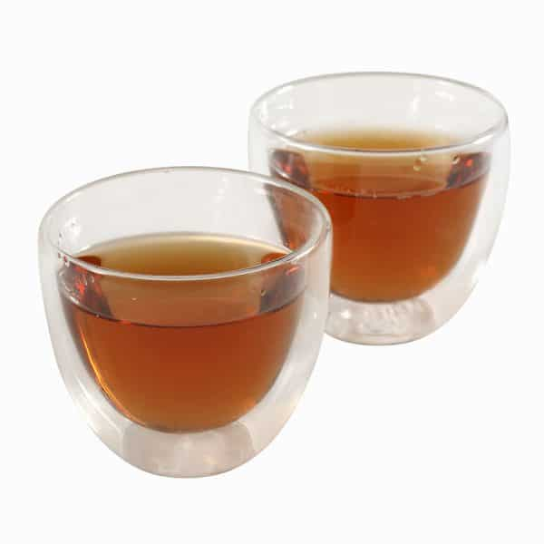 double walled glass cup 125ml
