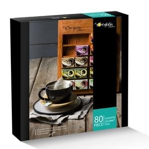 toni glass 80 piece gift box