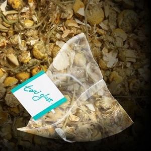 toni glass chamomile bag