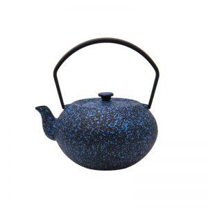 Cast Iron Teapot - Mottled Blue - 500ml