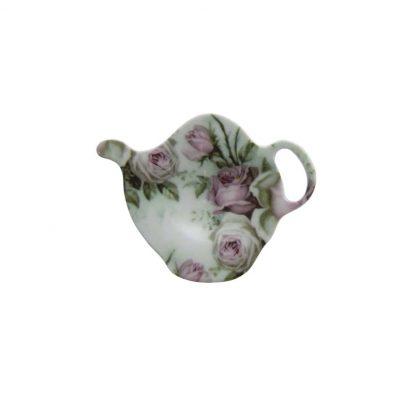 Teabag Holder Pink Roses