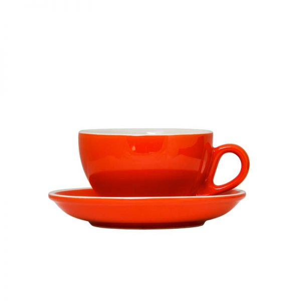Gloss Orange 220ml Stoneware cup and Saucer