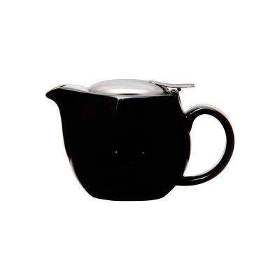 Stoneware Teapot Gloss Black 400ml
