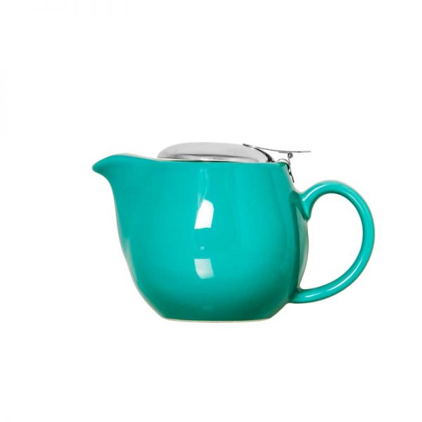 Stoneware Teapot Gloss Teal 400ml