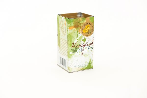 Cape Honeybush Tea Company - Green Honeybush square tin 1