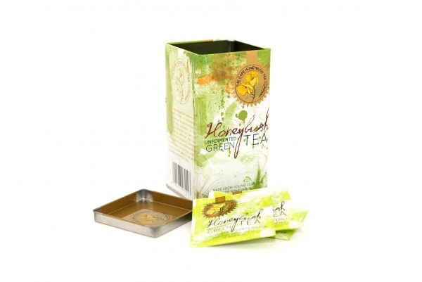Cape Honeybush Tea Company - Green Honeybush square tin 2