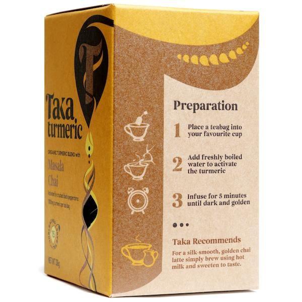Taka Turmeric Masala Chai side box