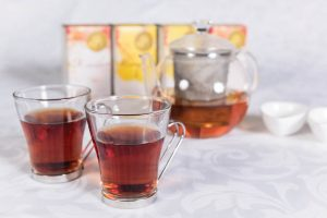 Cape Honeybush tea company - Teapot and cups