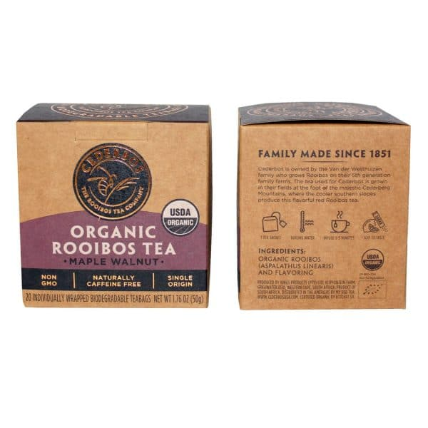 50g Cederbos Rooibos Maple Walnut pack back