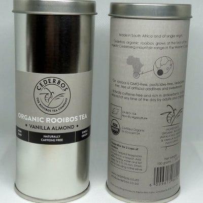 100g Cederbos Rooibos Vanilla Almond Tin
